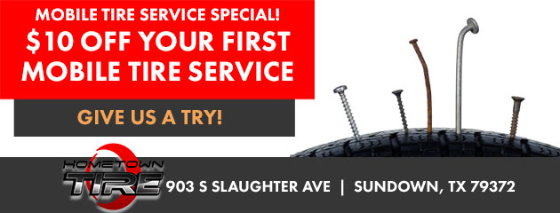 $10 OFF your First Mobile Tire Service