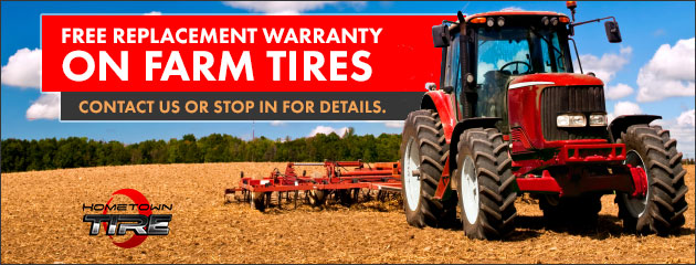 FREE Replacement Warranty on Farm Tires